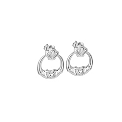 Newbridge Silverware Claddagh Earrings