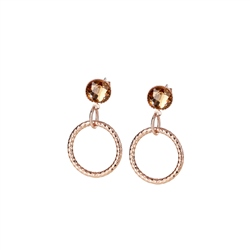 Newbridge Silverware Wish Twist Earrings with Topaz Stones