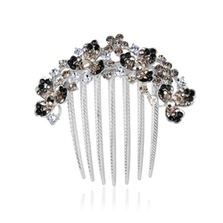 Hair Accessory with Black and Clear Stones