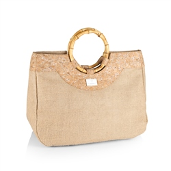 Handbag with Bamboo Handles