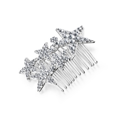Newbridge Silverware Star Hair Accessory with Clear Stones