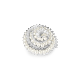 Vintage Brooch with Pearl Stone Settings
