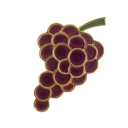 Vintage Trifari Grape Cluster Brooch