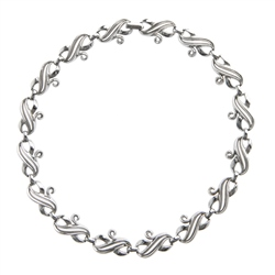 Vintage Trifari 1960's Silver Finish Necklace