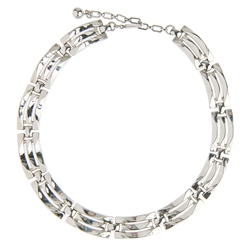 Vintage Trifari Silver Finish Link Necklace