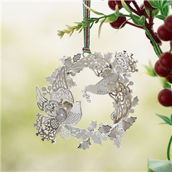 Birds in Wreath Hanging Decoration by Newbridge Silverware
