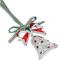Christmas Bell with Bow decoration by Newbridge Silverware