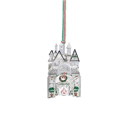 Christmas Home Scene Hanging Decoration by Newbridge Silverware