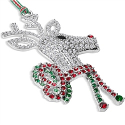 Reindeer with Bow Hanging Decoration by Newbridge Silverware