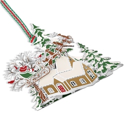 Santa and Sleigh Scene Hanging Decoration