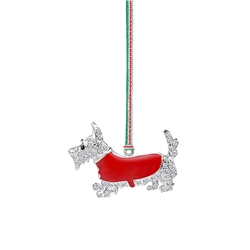 Scottie Dog Hanging Decoration by Newbridge Silverware