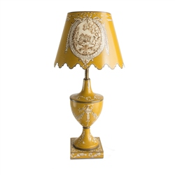 Newbridge Silverware Toleware Medium Lamp Ochre