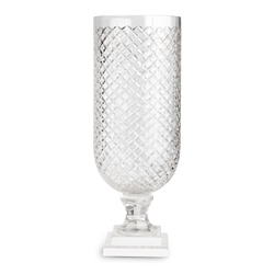 Newbridge Silverware Diamond Cut Glass Vase