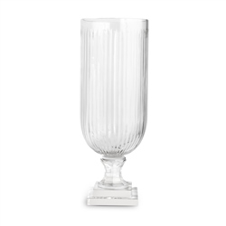 Newbridge Silverware Ribbed Cut Glass Vase