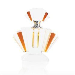 Newbridge Silverware Amber Fan Scent Bottle Medium