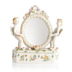 Newbridge Silverware Porcelain Cherub Mirror