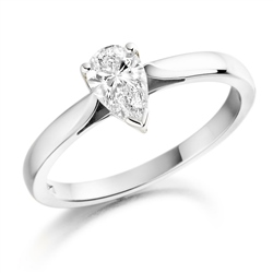 Newbridge Silverware 18ct White Gold Pear shaped Diamond Ring