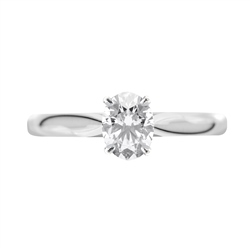 Newbridge Silverware 18ct White Gold Oval Shape Diamond Ring
