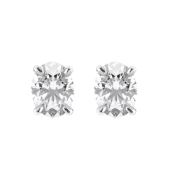 18ct White Gold Oval Shape Diamond Earrings
