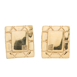Vintage Givenchy Square Logo Earrings