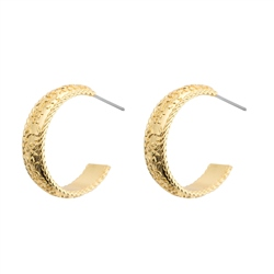 Newbridge Silverware Gold Plated Hoop Earrings