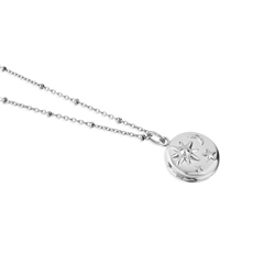 Silver Plated Locket with Sun Moon & Stars