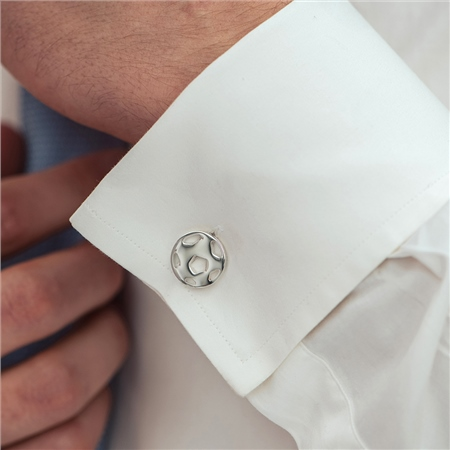 Football Cufflinks  - Click to view a larger image