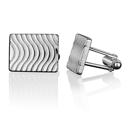 Guinness Wave Cufflinks  - Click to view a larger image
