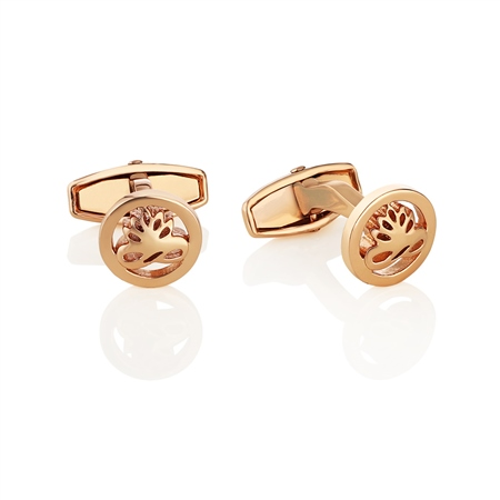 Rose Goldplate Cufflinks  - Click to view a larger image
