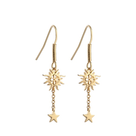 Drop Earrings with Sun and Stars  - Click to view a larger image