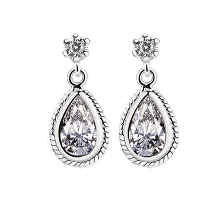Earrings Clear Stone  - Click to view a larger image