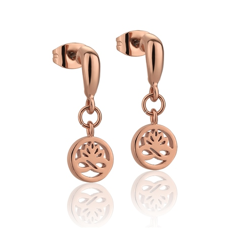 Rose Gold plate Stud Earrings  - Click to view a larger image