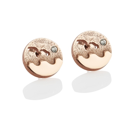 Rose Goldplate Ocean Earrings  - Click to view a larger image