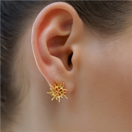 Sun Stud Earrings  - Click to view a larger image