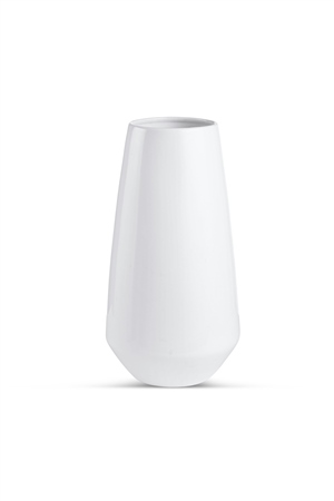 Whiteware Tall Vase  - Click to view a larger image