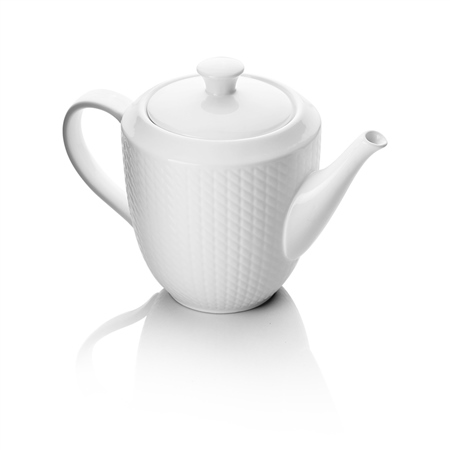 Whiteware Teapot x 1  - Click to view a larger image