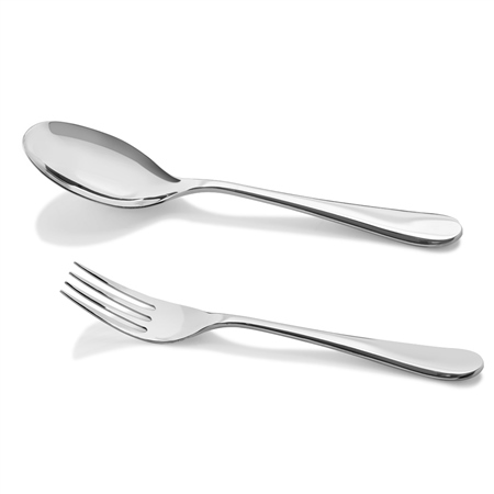 Large Serving Spoon and Fork Set  - Click to view a larger image