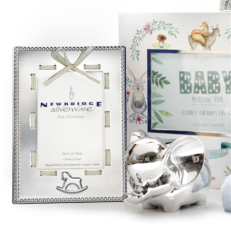 Newbridge Silverware - Baby Frame White Ribbon 4x6