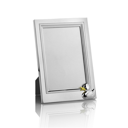 Silver Plated Duck Frame 4x6  - Click to view a larger image