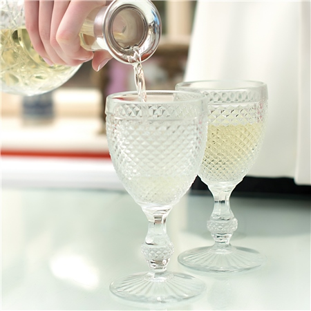 4 Piece Clear Glass Goblet Set  - Click to view a larger image
