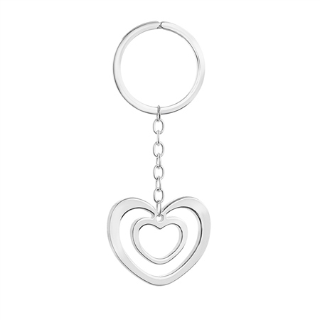 SP Double Heart Keyring  - Click to view a larger image
