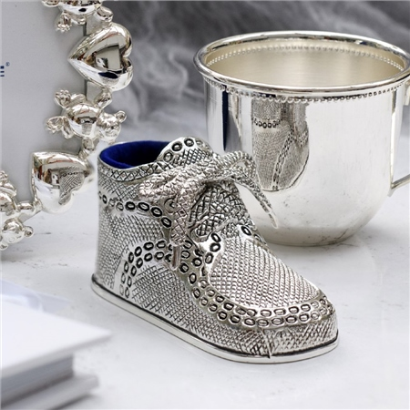 Silverplate Baby Bootie  - Click to view a larger image