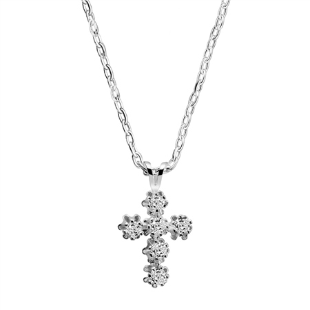 Cross Pendant Clear  - Click to view a larger image