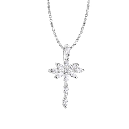 Cross Pendant with Clear Stones  - Click to view a larger image
