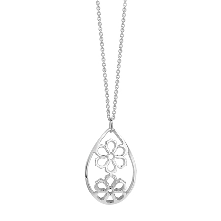 Floral Oval Pendant  - Click to view a larger image