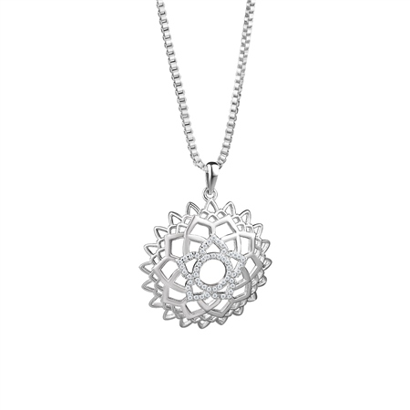 Floral Pendant Clear Stones  - Click to view a larger image