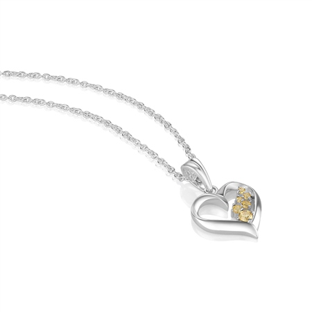 Birthstone Heart Pendant February