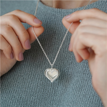 Mementos Pendant with Heart  - Click to view a larger image