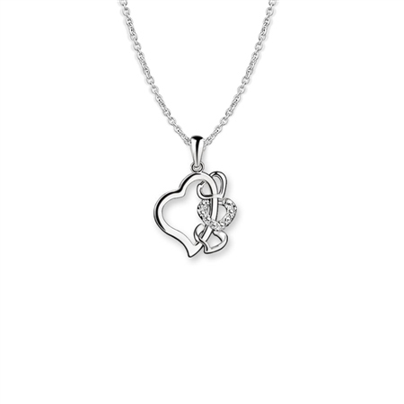 Multi Heart Pendant Clear  - Click to view a larger image