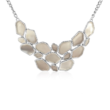 Multi Stone Necklace  - Click to view a larger image